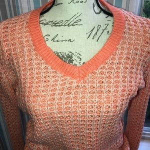 Sweaters - Orange Cable Knit Sweater